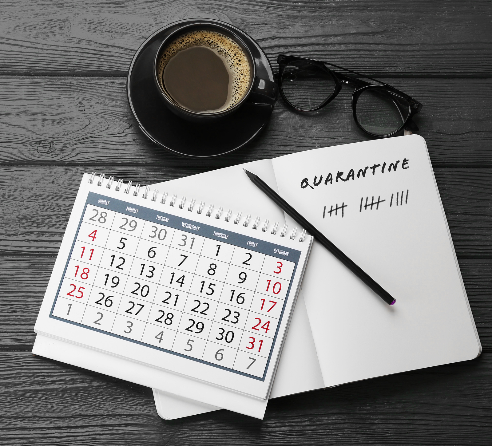 Extended deadlines represented by calendar and note pad