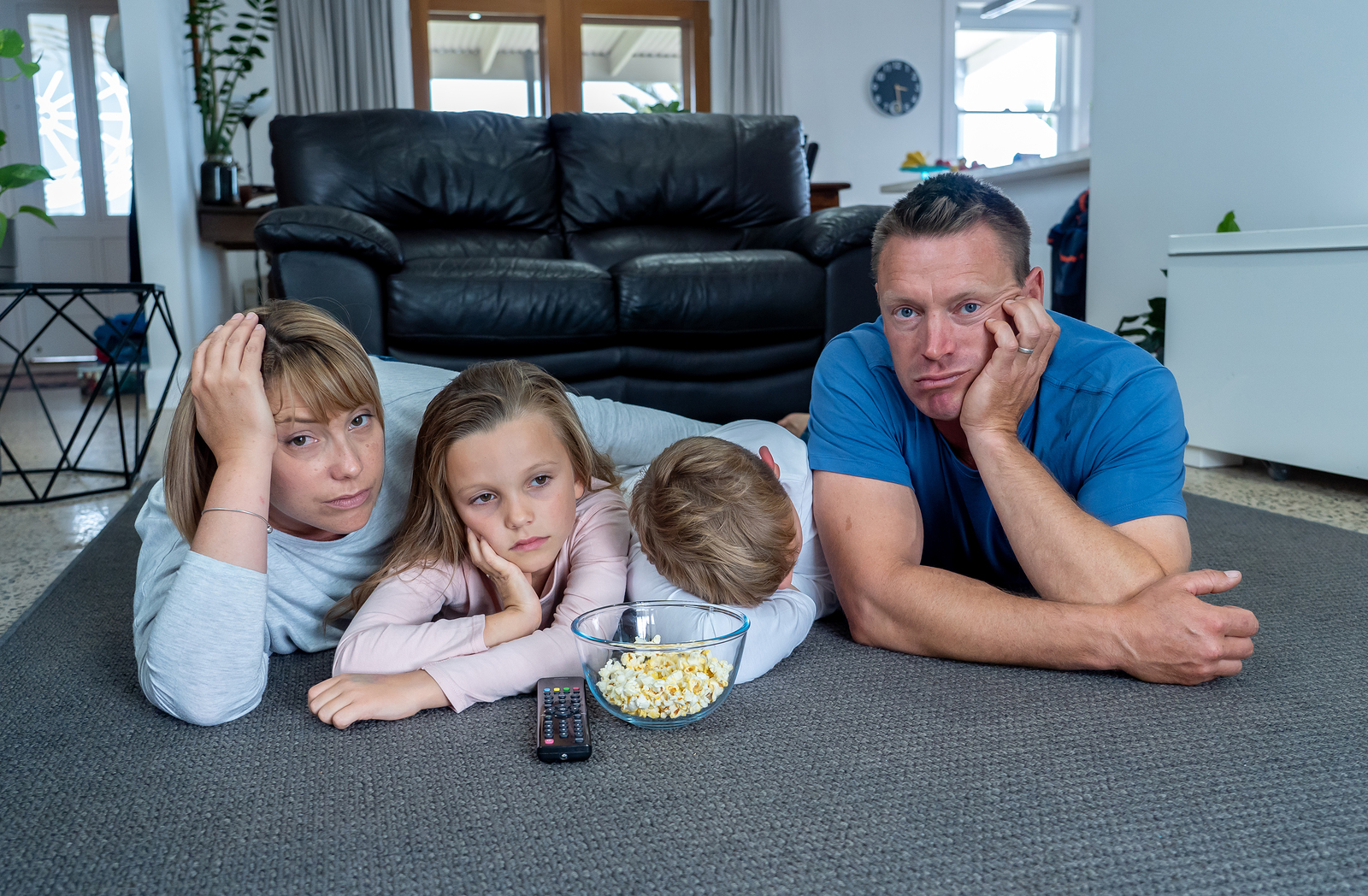 Family bored while sheltering in place