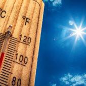 Danger of heat stroke on a hot summer day.